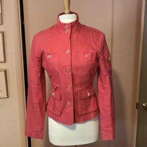 Classy coral suit jacket